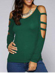 V Neck Cut Out T-Shirt