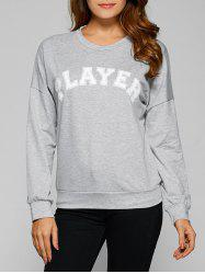 Drop Shoulder Player Sweatshirt