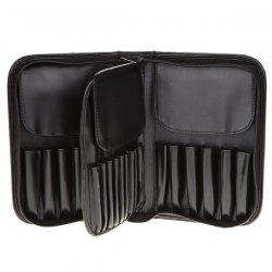 Faux Leather Makeup Brush Bag -
