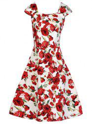 Fit and Flare Swing Retro Dress -