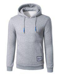 Surf Patch Kangaroo Pocket Pullover Hoodie