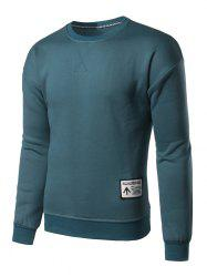 Sweat-shirt Ras du Cou Applique - Bleu M