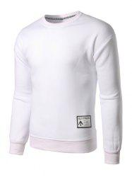 Sweat-shirt Ras du Cou Applique -