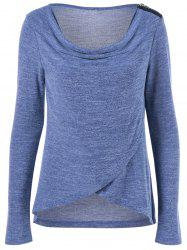 Asymmetric Cowl Neck T-Shirt -