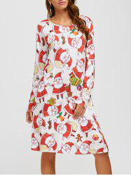 Santa Claus Pattern A-Line Dress