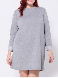 Plus Size Long Sleeves T-Shirt Dress