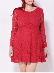 Crochet Lace Flare Dress