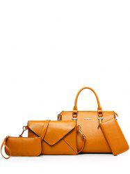 Metallic Zippers PU Leather Tote Bag