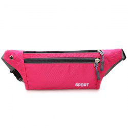 Colour Spliced Double Zipper Nylon Crossbody Bag