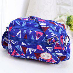 Zippers Colour Block Triangle Pattern Crossbody Bag