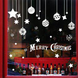 Removable Pendants Merry Christmas DIY Window Wall Stickers -