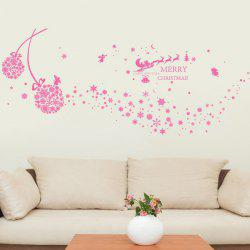Snowflake Ball Christmas Wall Stickers Living Room Decoration
