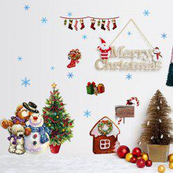 DIY Merry Christmas Wall Stickers Living Room Cabinet Decoration