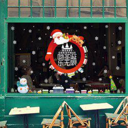 Santa Claus DIY Christmas Wall Stickers Glass Showcase Decor