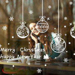 Merry Christmas Snowflake Pendants DIY Wall Stickers Window Decor