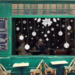 Showcase Decor Christmas Snowflake Pendants DIY Wall Stickers - WHITE