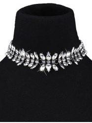 Waterdrop Artificial Crystal Choker Necklace -