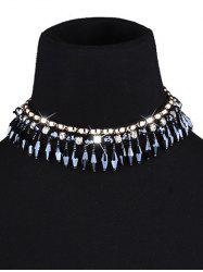 Artificial Crystal Tassel Choker Necklace