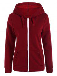 Zip-Up Pockets Hoodie