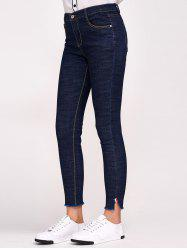 Stretchy Side Slit with Pockets Jeans -
