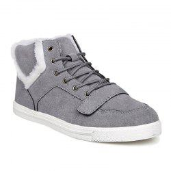Suede Bottines Fuzzy - Gris