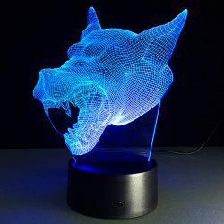 7 Color Changing 3D Bulbing Light Werewolf Pictures Night Light - TRANSPARENT
