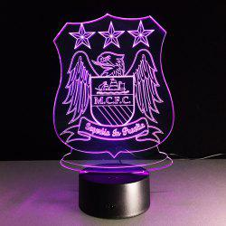 7 Color Changing 3D Bulbing Light Trophy Night Light - TRANSPARENT