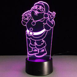 7 Color Changing 3D Santa Claus Night Light