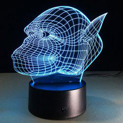 7 Color Touch Changing 3D Gorilla Night Light