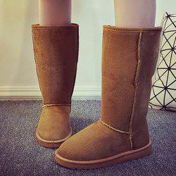 Suede Mid Calf Snow Boots