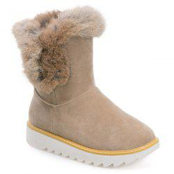 Furry Platform Snow Boots