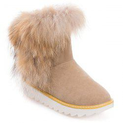 Platform Furry Snow Boots