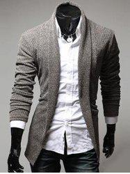 Turndown Collar Slimming Knitting Cardigan