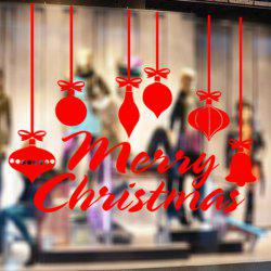 Merry Christmas Decorative Pendants Window Wall Stickers