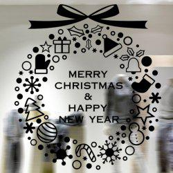 Merry Christmas Window Showcase Decoration Wall Stickers