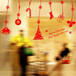 Christmas Gift Decorative Pendants Removable Window Wall Stickers