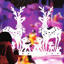 Removable Deer Pattern Christmas Showcase Wall Stickers