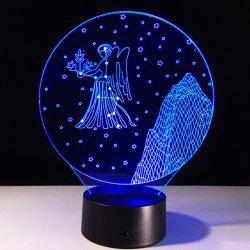 3D Visual 7 Color Changing Virgo Shape Touching LED Night Light