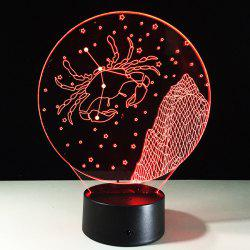 3D Visual 7 Color Changing Cancer Shape Touching LED Night Light