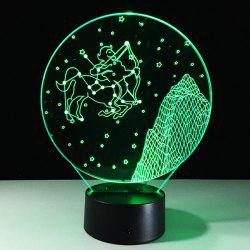 3D Visual 7 Color Change Sagittarius Shape Touching LED Night Light