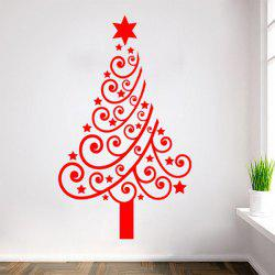 Multicolor Christmas Tree Glass Window Vinyl Wall Stickers Custom -