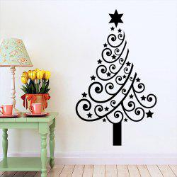 Multicolor Christmas Tree Glass Window Vinyl Wall Stickers Custom