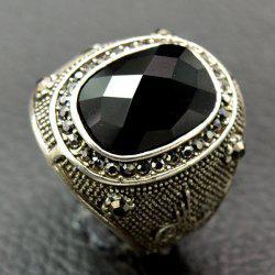 Retro Faux Crystal Rhinestone Ring