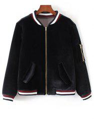 Zip-Up Embroidered Souvenir Jacket -