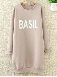 Loose Letter Long Sweatshirt -