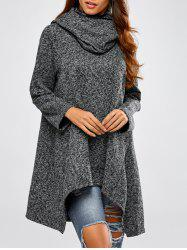 Hooded Asymmetric Loose Sweater -