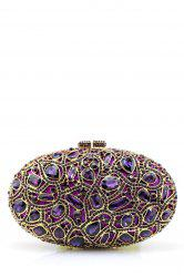 Oval Rhinestone Evening Bag -