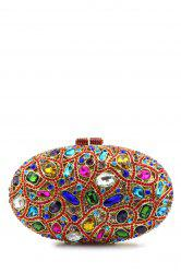 Oval Rhinestone Evening Bag - COLORMIX