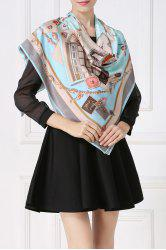 Soft Envelopes Print Square Scarf