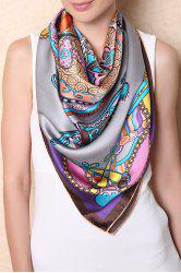 Soft Chinese Ancient Auspicious Clouds Square Scarf